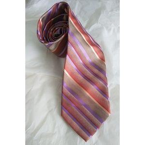 Mens Stacy Adams Tie Beige Purple Yellow